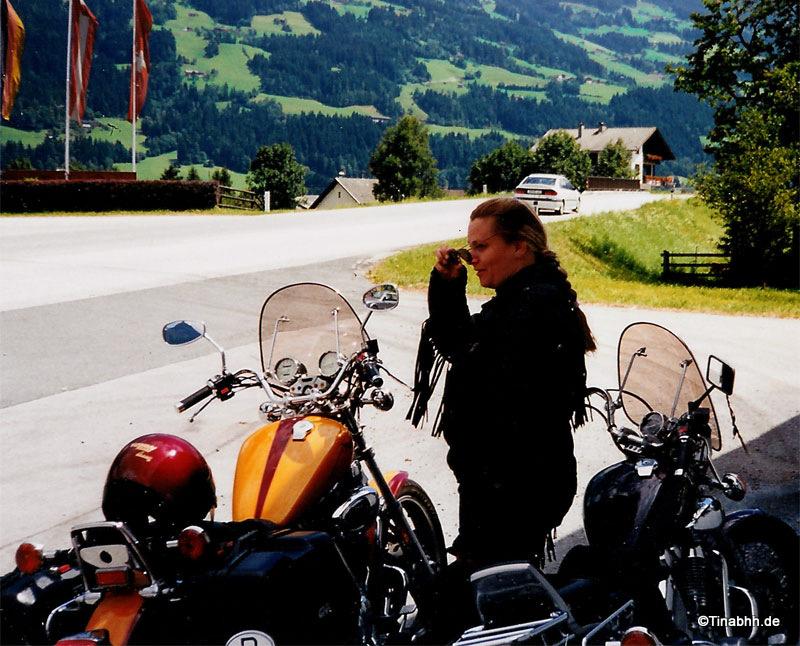 Motorrad im Zillertal