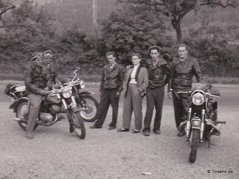 50er Jahre Motorradtour