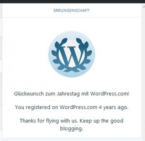 4 Jahre Wrodpress