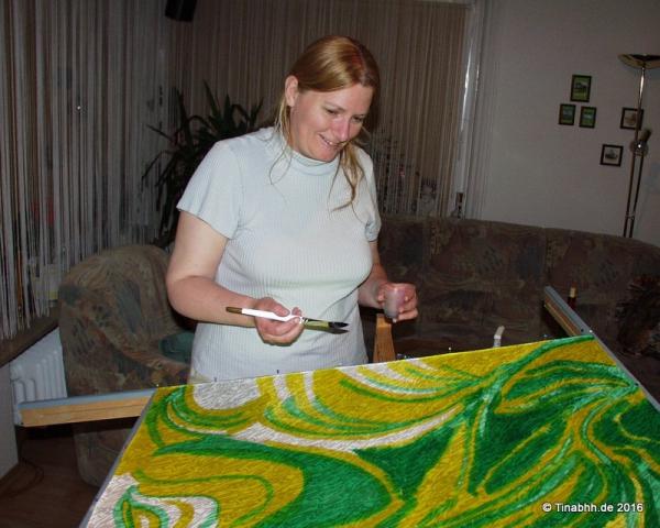 Harmonie bei der Seidenmalerei