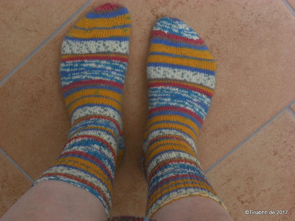 Socken am Fuß