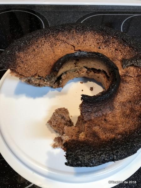 Walnusskuchen verbrannt