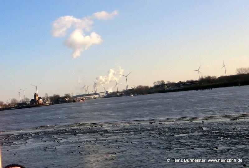 Blick über die Elbe bei Teufelsbrück 6.02.2018 (7644a)