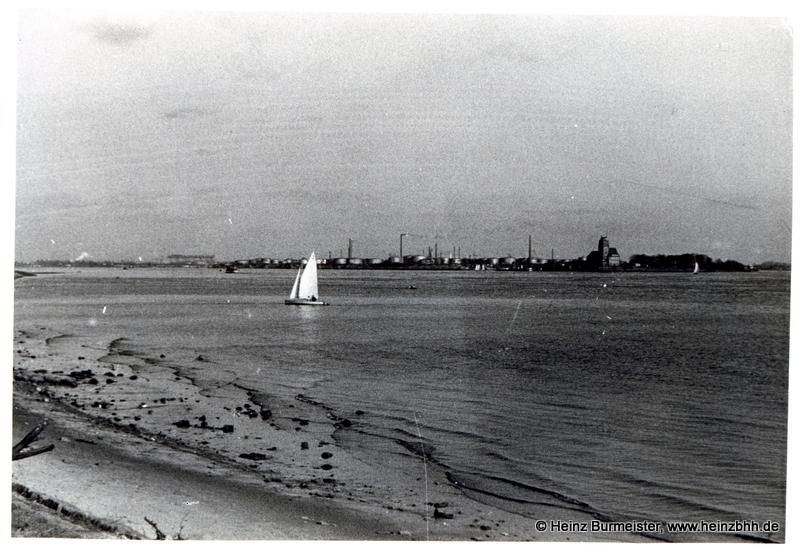 Blick über die Elbe bei Teufelsbrück 60er Jahre (Pap213)