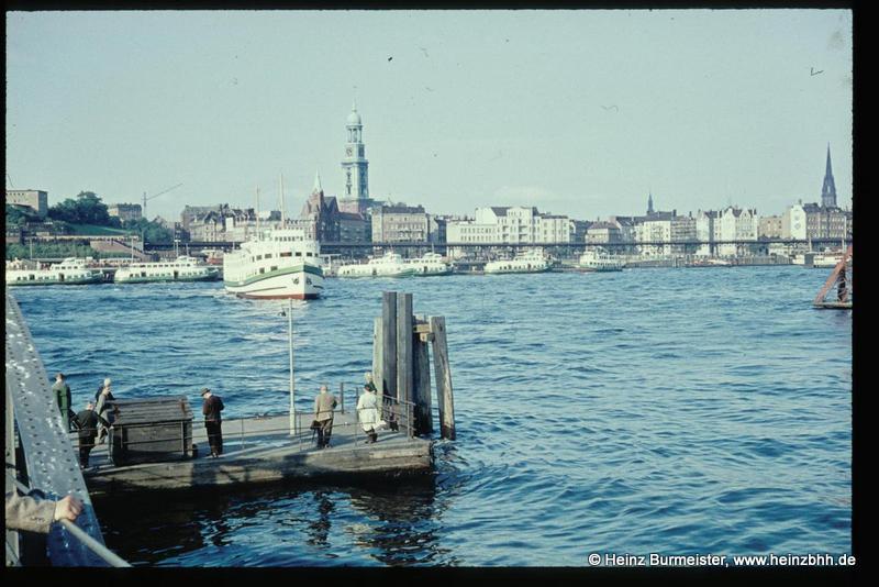 Dampferfahrt Landungsbrücken nach Blankenese 1959